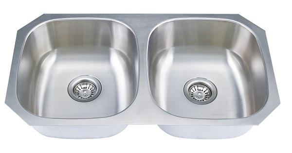 ... 16 Gauge 304 Stainless Steel Double Bowl Undermount Sink. Kitchen Sinks  Rangehooddirectbuy Com